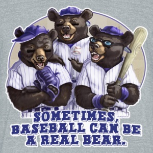 Baseball Bears - Unisex Tri-Blend T-Shirt by American Apparel