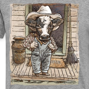Cow Boy Farmer - Men's Premium T-Shirt