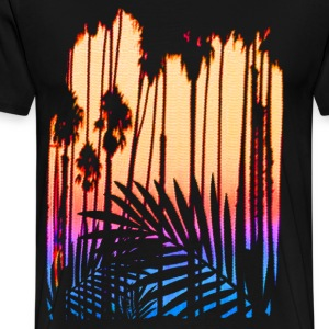 Tropical Paradise Sunset - Men's Premium T-Shirt