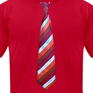 tie 2 - Men's T-Shirt by American Apparel