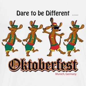Oktoberfest Dancing Dachshunds - Men's Premium T-Shirt