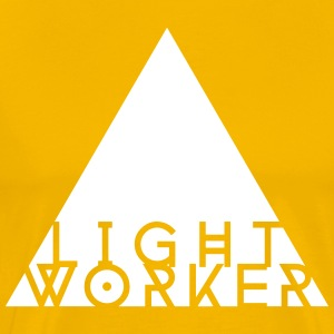 Light Worker T-shirt (white on yellow) - Men's Premium T-Shirt