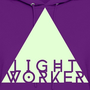 Light Worker hoodie (glow in the dark on purple) - Women's Hoodie