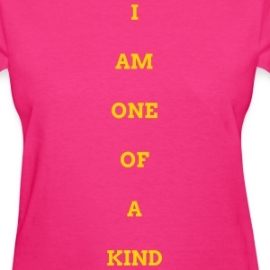 WOMEN I AM OOAK SHIRT PINK/GOLD - Women's T-Shirt