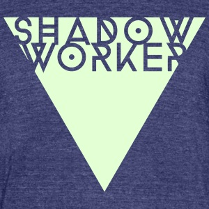 Shadow Worker T-shirt (glow in the dark on heather - Unisex Tri-Blend T-Shirt by American Apparel