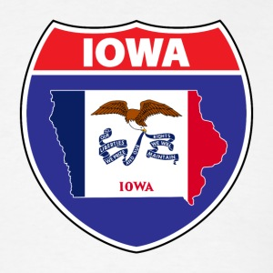 Iowa Flag Hwy Sign -T-Shirt - Men's T-Shirt