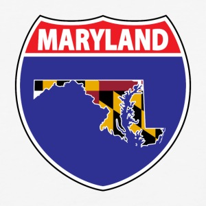 Maryland flag hwy sign baseball tee - Baseball T-Shirt