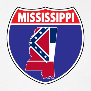 Mississippi flag hwy sign t-shirt - Men's T-Shirt