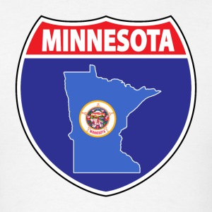 Minnesota flag hwy sign t-shirt - Men's T-Shirt