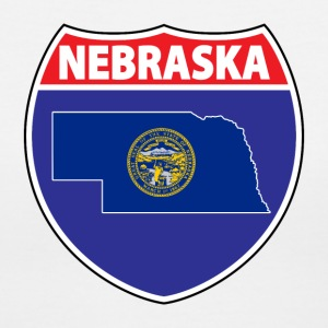 Nebraska flag hwy sign v-neck tee - Women's V-Neck T-Shirt