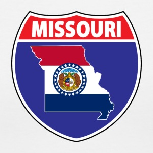 Missouri flag hwy sign v-neck tee - Women's V-Neck T-Shirt