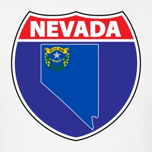 Nevada flag hwy sign t-shirt - Men's T-Shirt