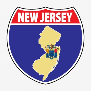 New Jersey flag hwy sign baseball tee - Baseball T-Shirt