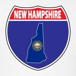 New Hampshire flag hwy sign t-shirt - Men's T-Shirt