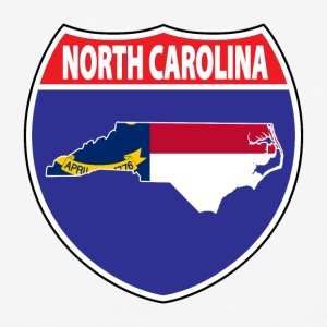 North Carolina flag hwy baseball tee - Baseball T-Shirt
