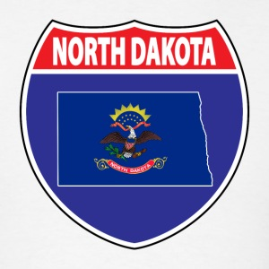North Dakota flag hwy t-shirt - Men's T-Shirt