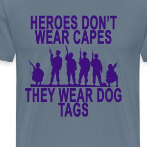 heroes_wear_dog_tags_ - Men's Premium T-Shirt
