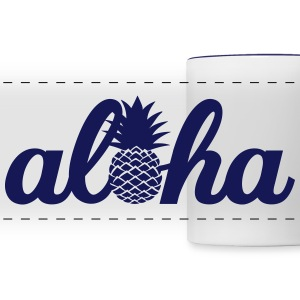 Aloha Hawaï Pineapple Mugs & Drinkware - Panoramic Mug