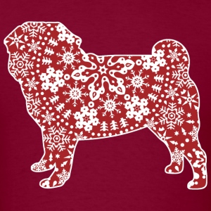 Christmas Boho Red Pug T-Shirts - Men's T-Shirt