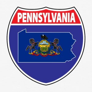 Pennsylvania Flag Hwy sign baseball tee - Baseball T-Shirt