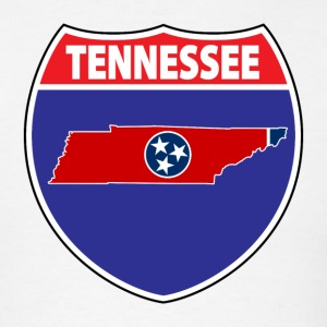 Tennessee flag hwy sign t-shirt - Men's T-Shirt