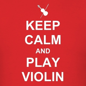 calm violin white - Men's T-Shirt