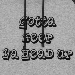 KEEP YOUR HEAD UP Hoodies - Colorblock Hoodie