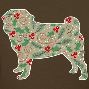 Christmas Holly Pug T-Shirts - Women's T-Shirt
