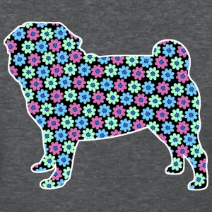 Pug Spring Floral Pattern T-Shirts - Women's T-Shirt