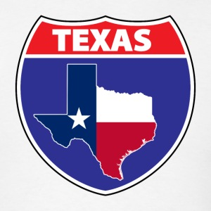Texas flag us hwy sign t-shirt - Men's T-Shirt