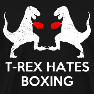 T Rex Hates Boxing - Men's Premium T-Shirt