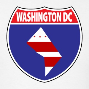 Washington  DC flag us hwy t-shirt - Men's T-Shirt