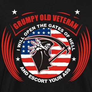 Grumpy old veteran - I'll open the gates of hell - Men's Premium T-Shirt