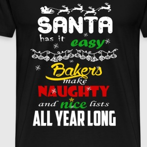 Bakers - Make naughty and nice lists all year long - Men's Premium T-Shirt