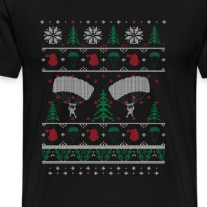 Skydiving - Awesome christmas sweater for skydive - Men's Premium T-Shirt
