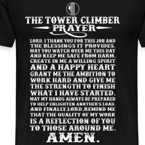 The tower climber's prayer - Climbing - Men's Premium T-Shirt