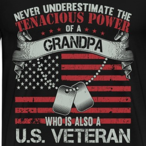 US veteran grandpa - Never underestimate - Men's Premium T-Shirt
