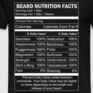 Beard - Beard nutrition facts awesome t-shirt - Men's Premium T-Shirt