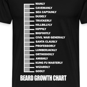 Beard - Beard growth chart awesome t-shirt - Men's Premium T-Shirt