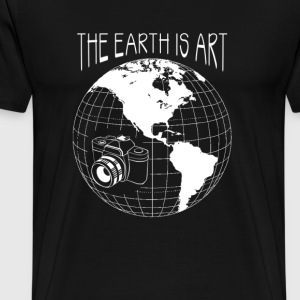 Photographer - The earth is art - Photography - Men's Premium T-Shirt