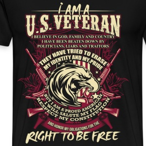 veteran, veterans day, iraq veteran combat - Men's Premium T-Shirt