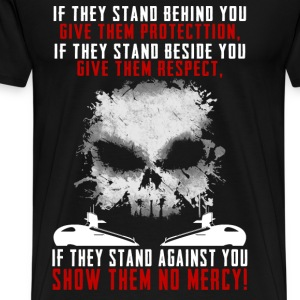 Submarine - If they stand behind you protect them - Men's Premium T-Shirt
