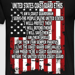 United States Coast guard man - I will save them - Men's Premium T-Shirt
