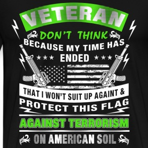 Military veteran I suit up and protect this flag - Men's Premium T-Shirt