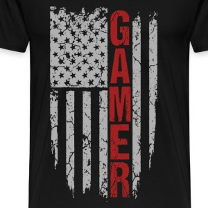 Gamer - Awesome american flag t-shirt for gamers - Men's Premium T-Shirt
