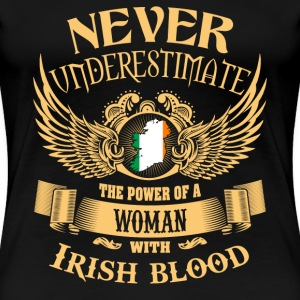 Irish women - Power of a woman with Irish blood - Women's Premium T-Shirt