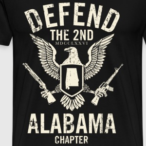 Alabama - Defend the 2nd Alabama chapter t-shirt - Men's Premium T-Shirt