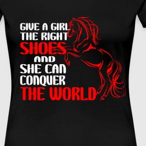 horse riding - Give a girl the right shoes - Women's Premium T-Shirt