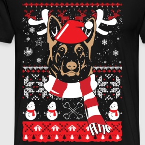 Dog - Dog awesome christmas sweater for owner - Men's Premium T-Shirt