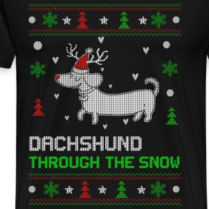 Dachshund - Dachshund through the snow sweater - Men's Premium T-Shirt